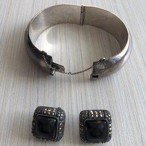 Jewelry - Vintage Sterling silver bangle set